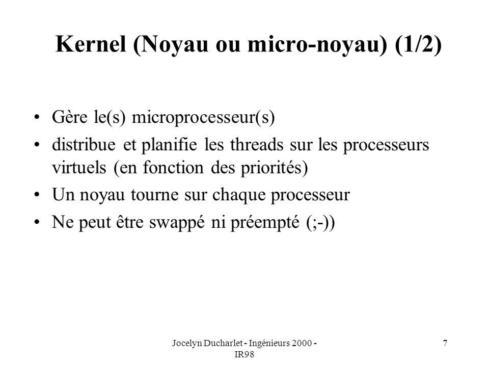 Kernel (Noyau ou micro-noyau) (1/2)