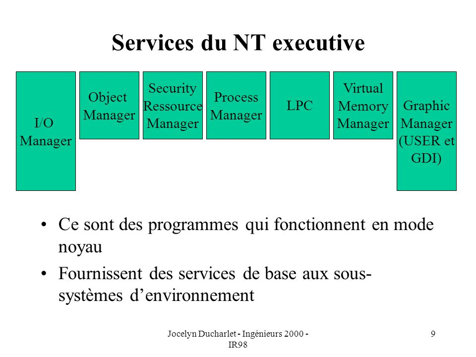 Services du NT executive