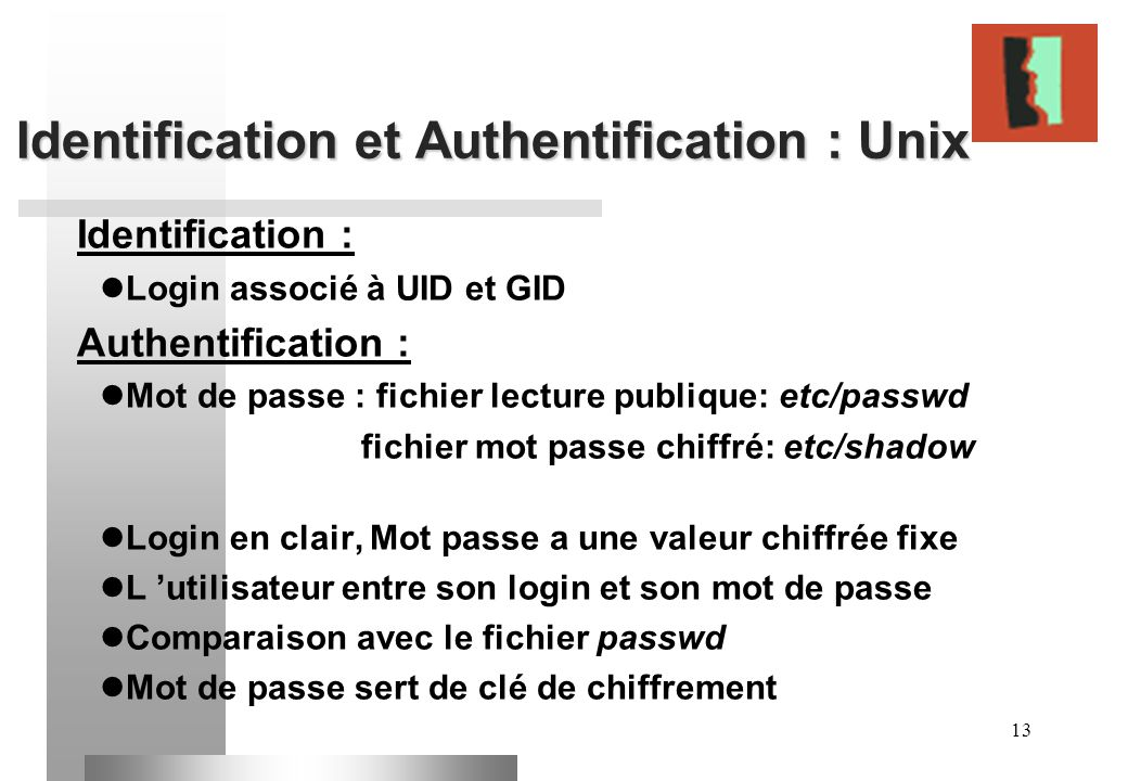 Identification et Authentification : Unix