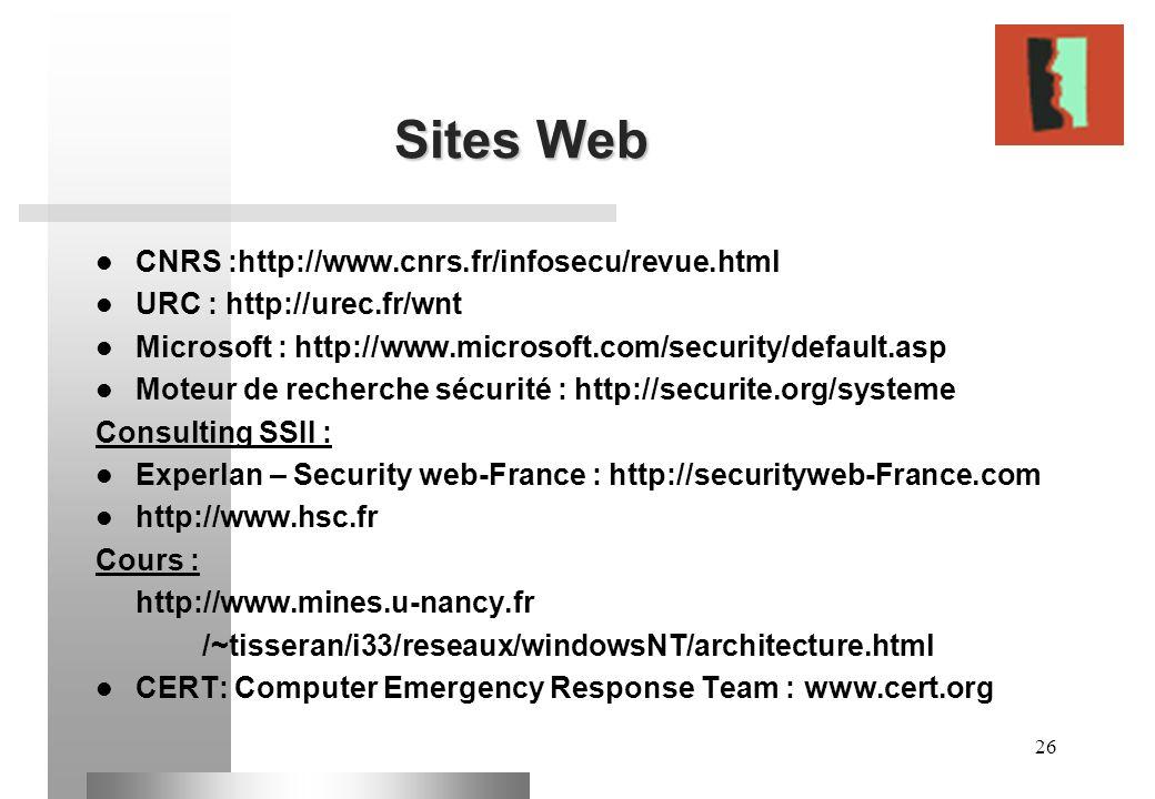 Sites Web CNRS :http://www.cnrs.fr/infosecu/revue.html