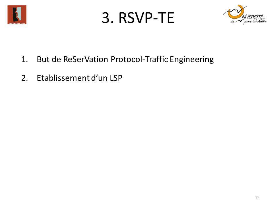 3. RSVP-TE But de ReSerVation Protocol-Traffic Engineering