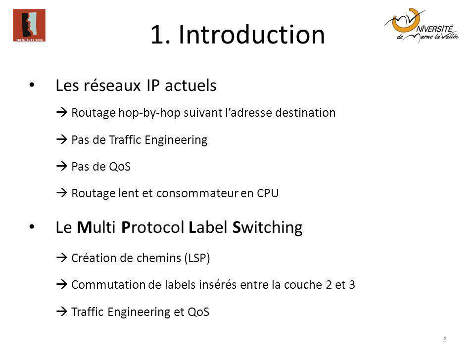 1. Introduction Les réseaux IP actuels