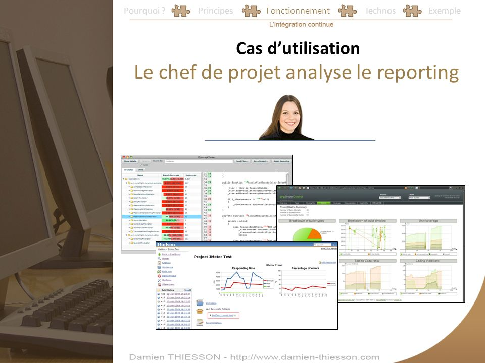 Le chef de projet analyse le reporting