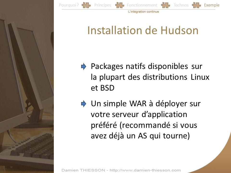 Installation de Hudson