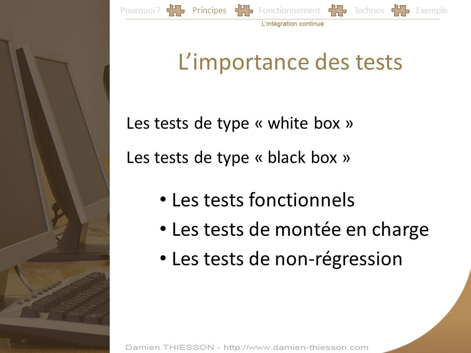 L'importance des tests