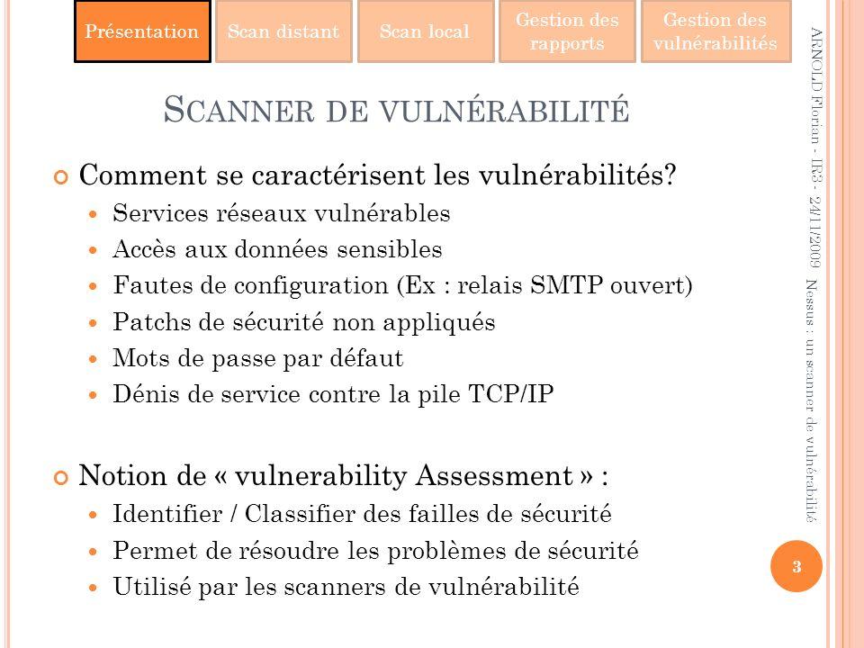 Scanner de vulnérabilité