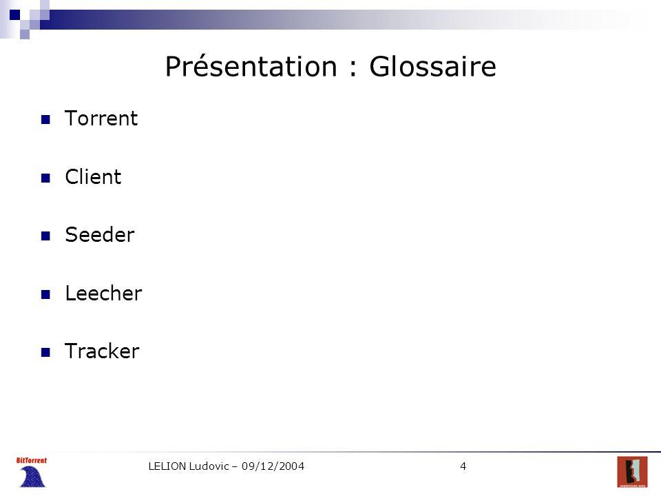 Présentation : Glossaire