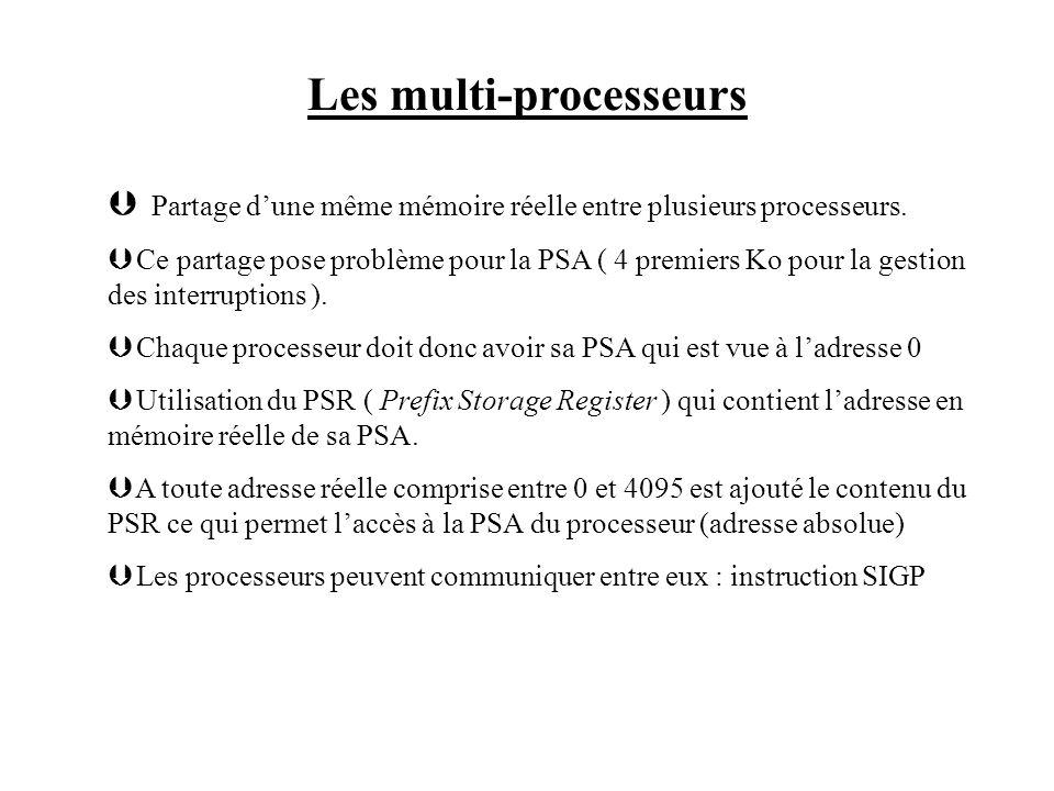 Les multi-processeurs