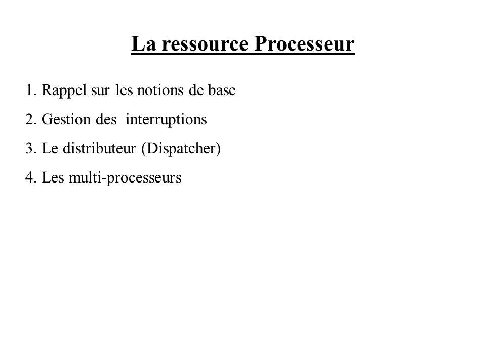 La ressource Processeur