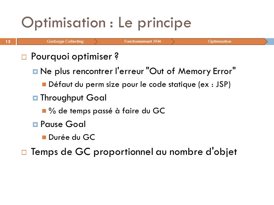 Optimisation : Le principe