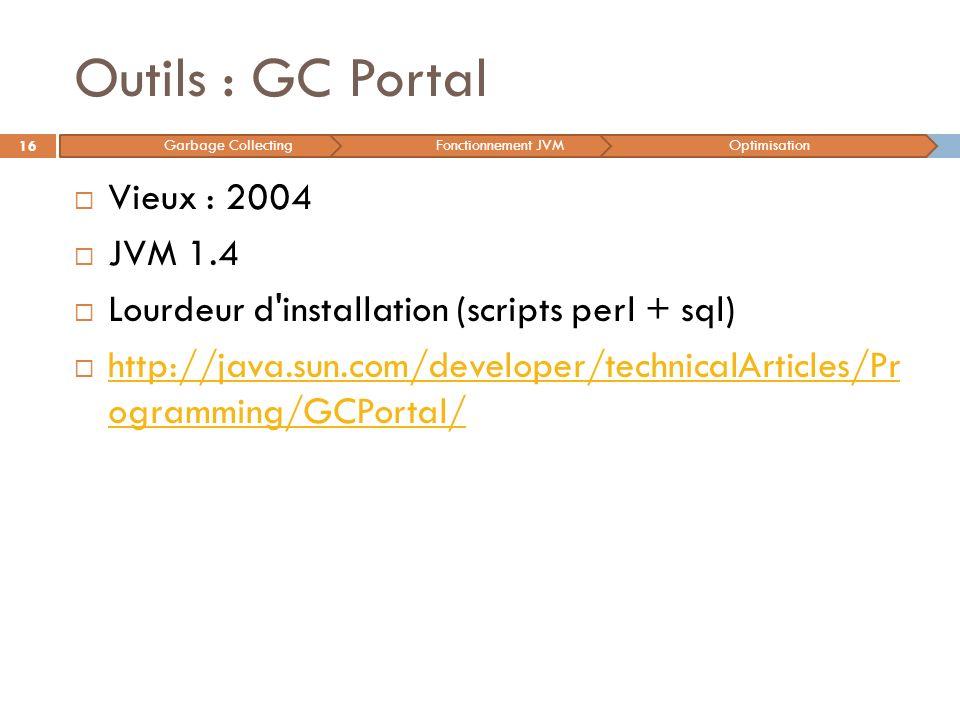 Outils : GC Portal Vieux : 2004 JVM 1.4