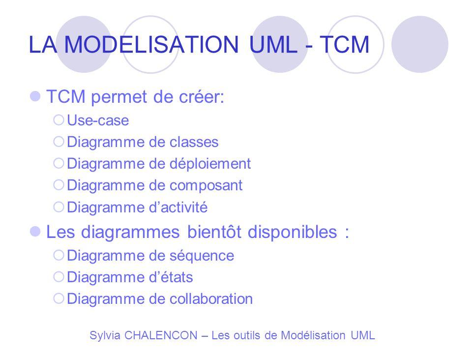 LA MODELISATION UML - TCM