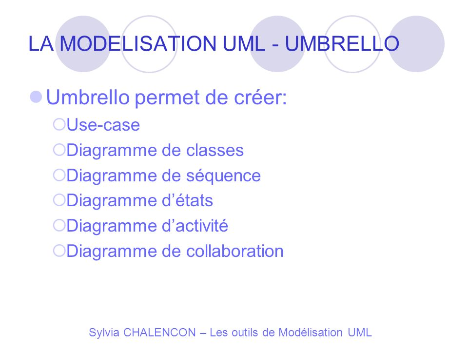 LA MODELISATION UML - UMBRELLO