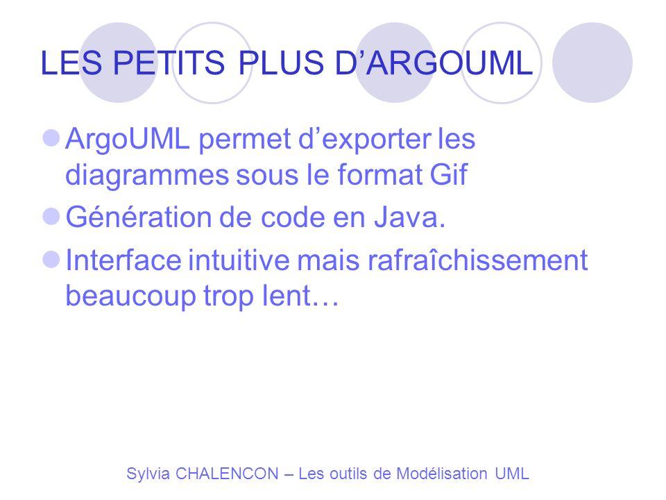 LES PETITS PLUS D'ARGOUML