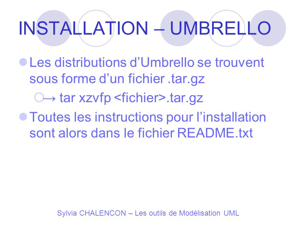 INSTALLATION – UMBRELLO