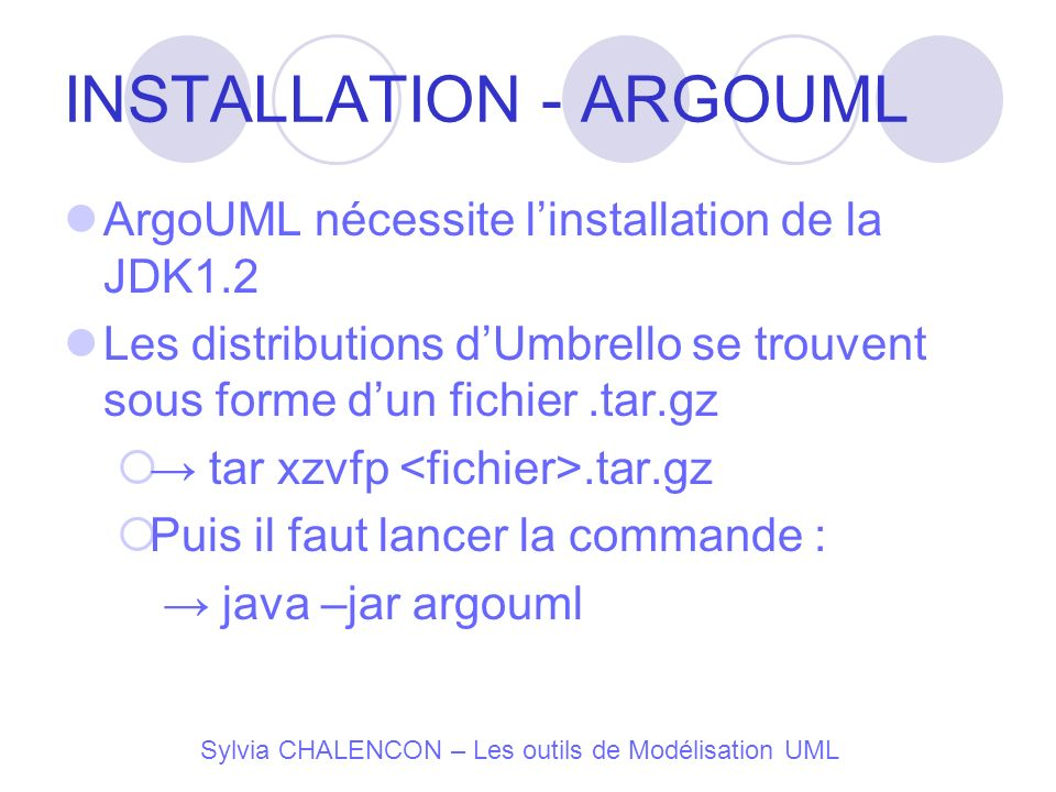 INSTALLATION - ARGOUML