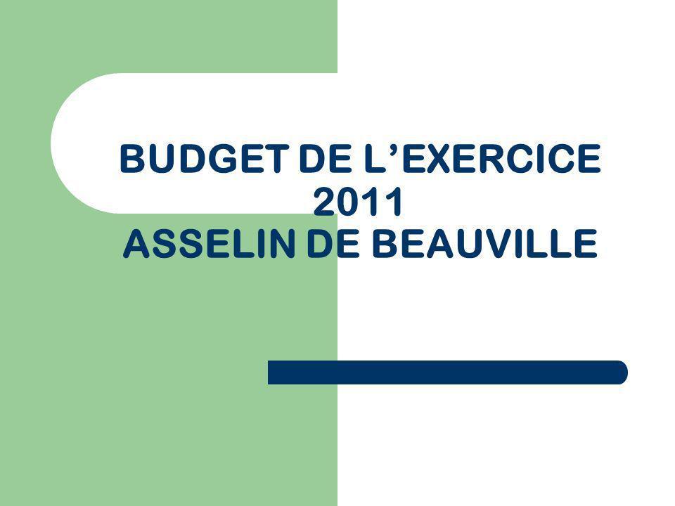 BUDGET DE L'EXERCICE 2011 ASSELIN DE BEAUVILLE