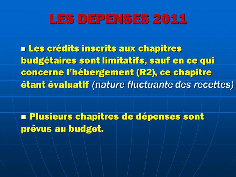 LES DEPENSES 2011