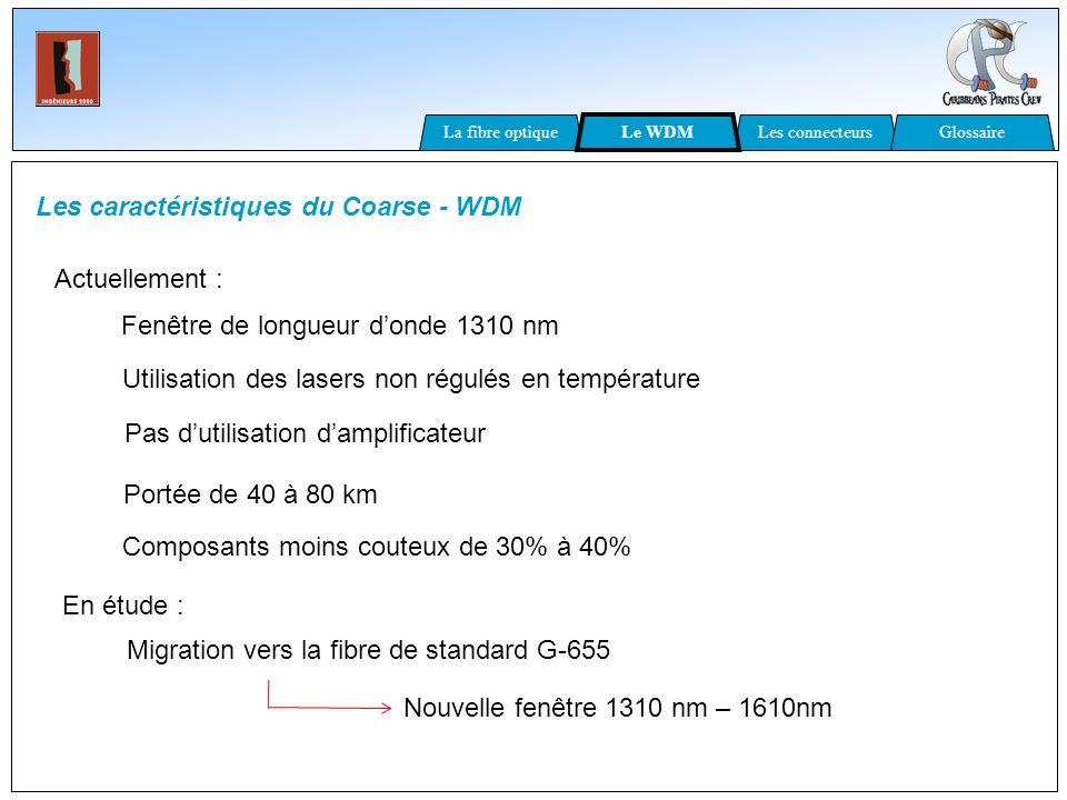 Les caractéristiques du Coarse - WDM