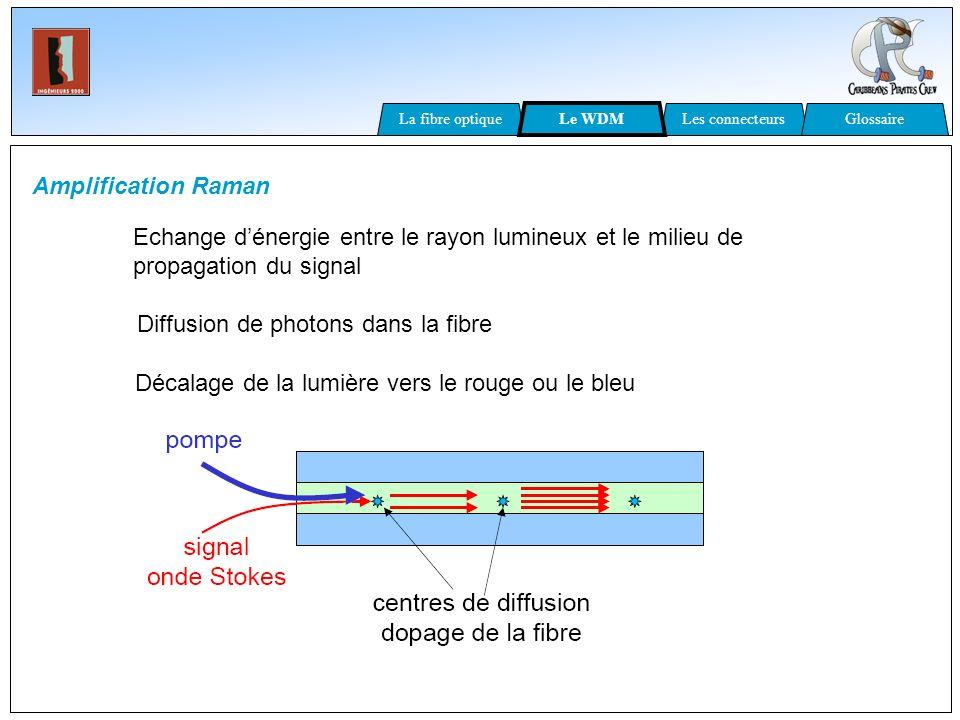 Diffusion de photons dans la fibre