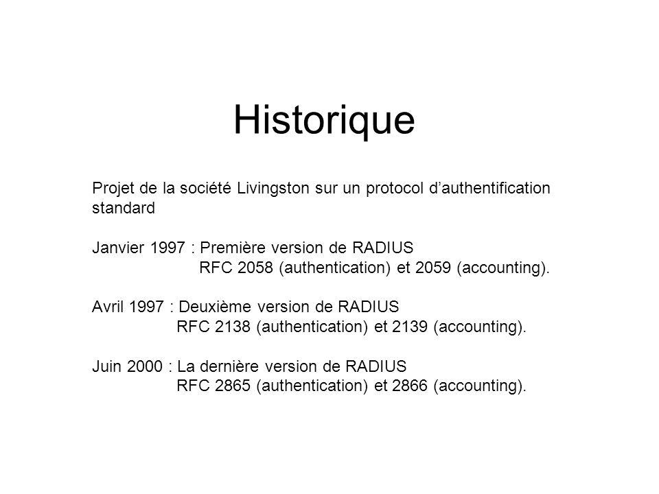 Historique Projet de la société Livingston sur un protocol d'authentification standard.