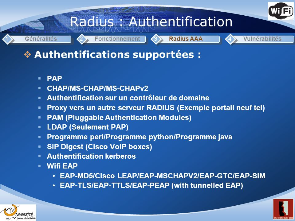 Radius : Authentification