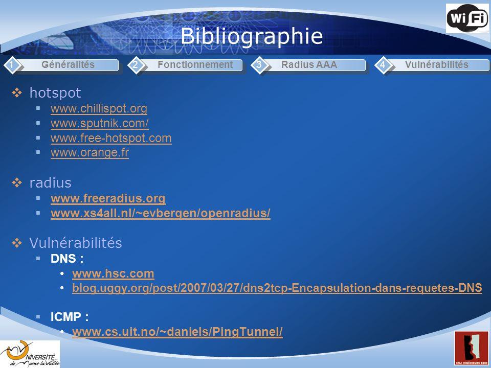 Bibliographie hotspot radius Vulnérabilités www.chillispot.org
