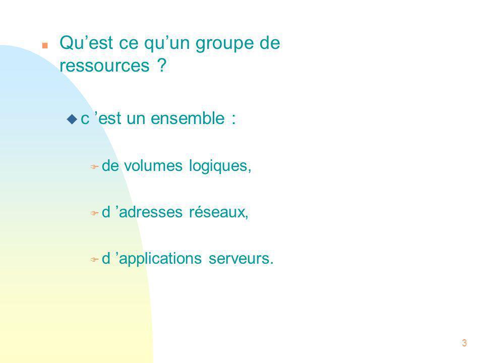 Qu'est ce qu'un groupe de ressources