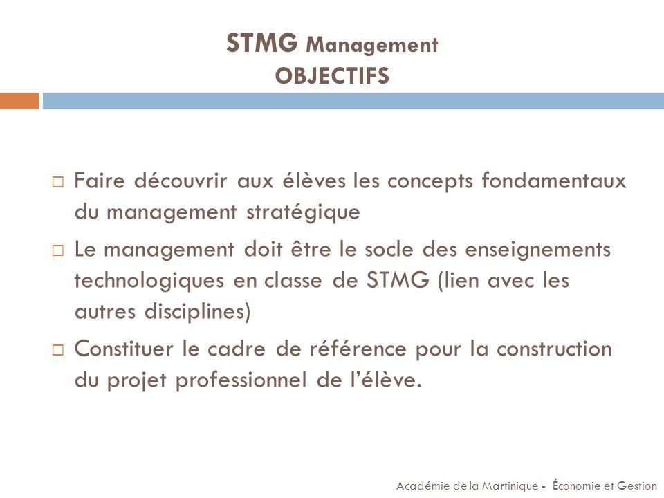 STMG Management OBJECTIFS