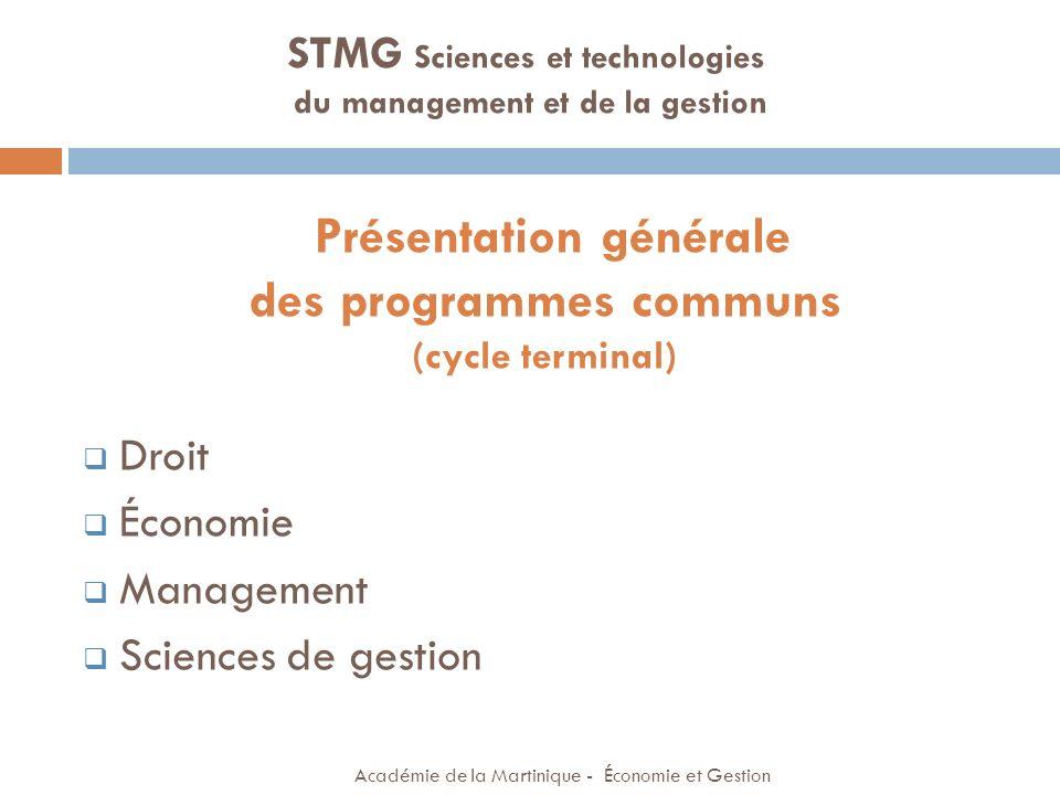 Présentation générale des programmes communs