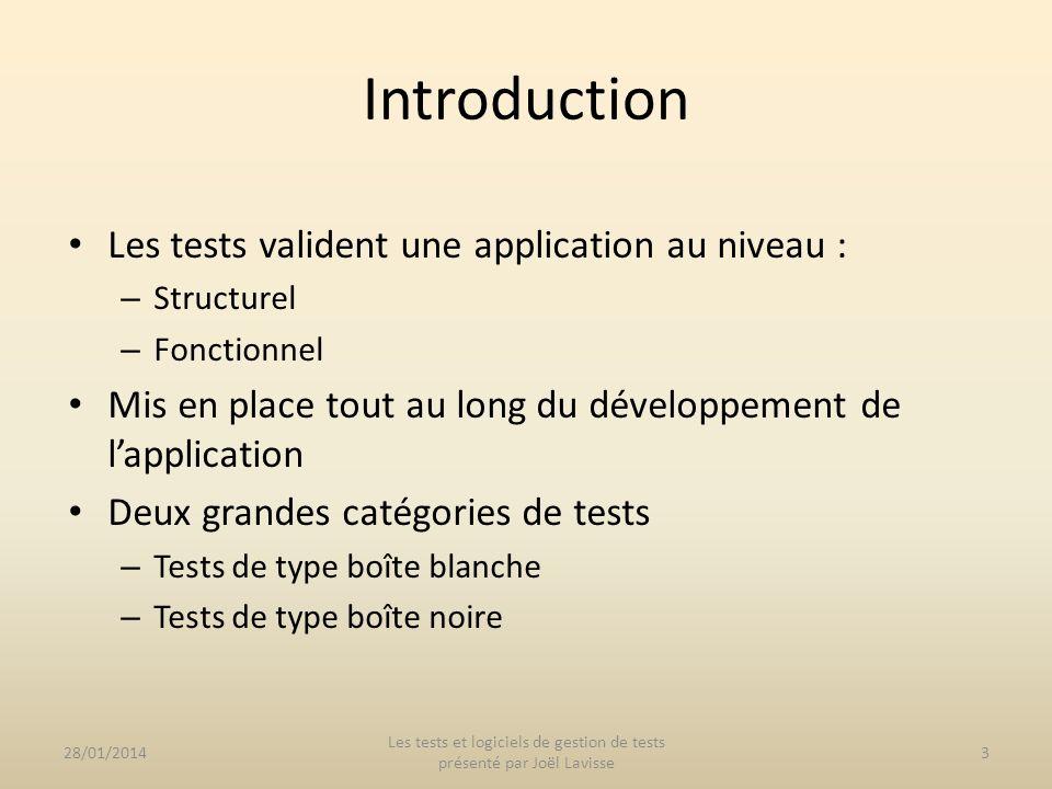 Environnement de tests