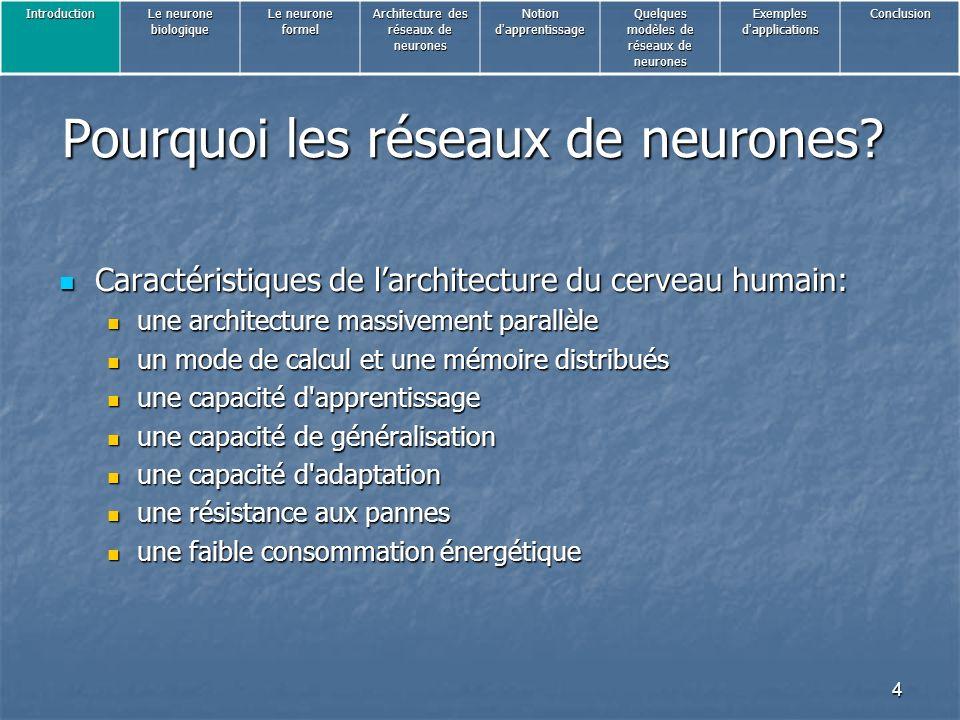 Pourquoi les réseaux de neurones
