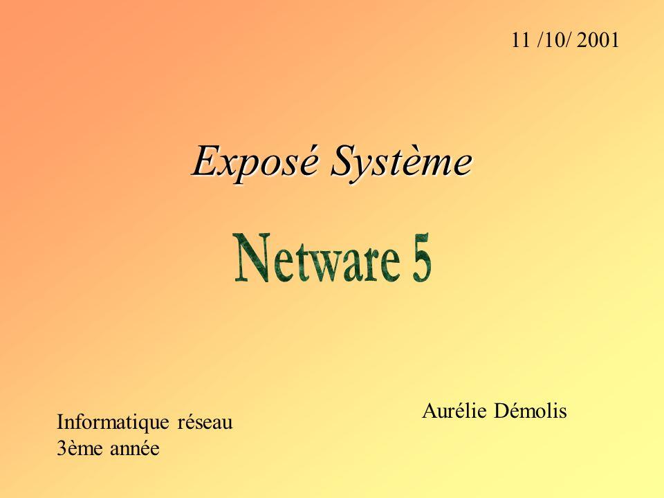 Exposé Système Netware 5 11 /10/ 2001 Aurélie Démolis
