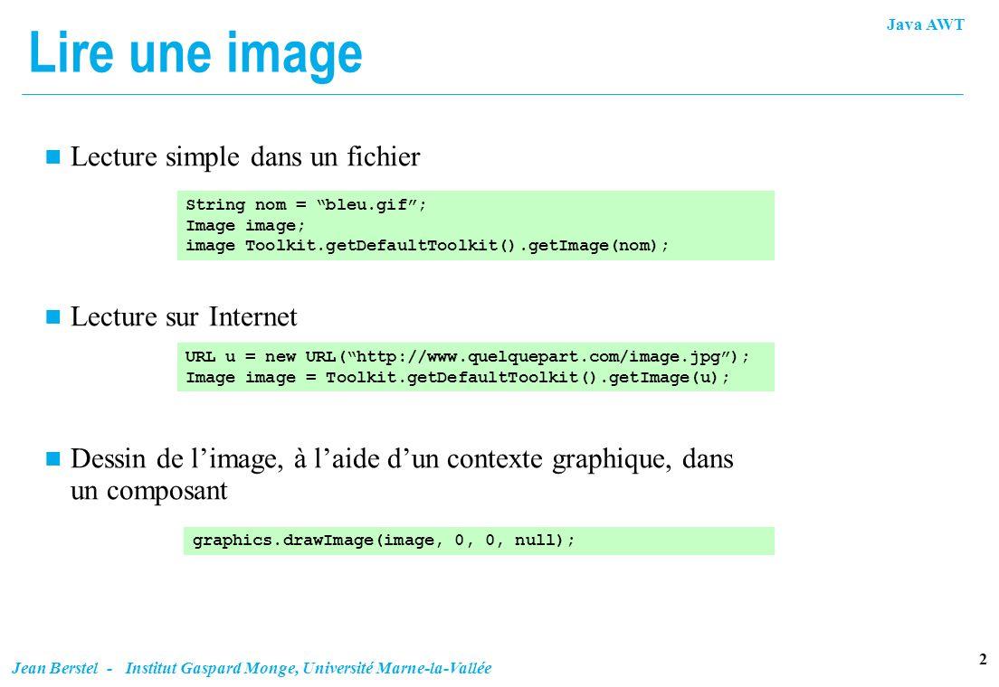 Lire une image Lecture simple dans un fichier Lecture sur Internet