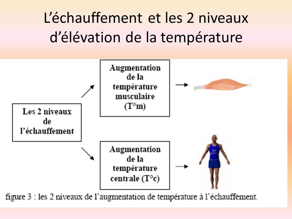 L'échauffement et les 2 niveaux d'élévation de la température