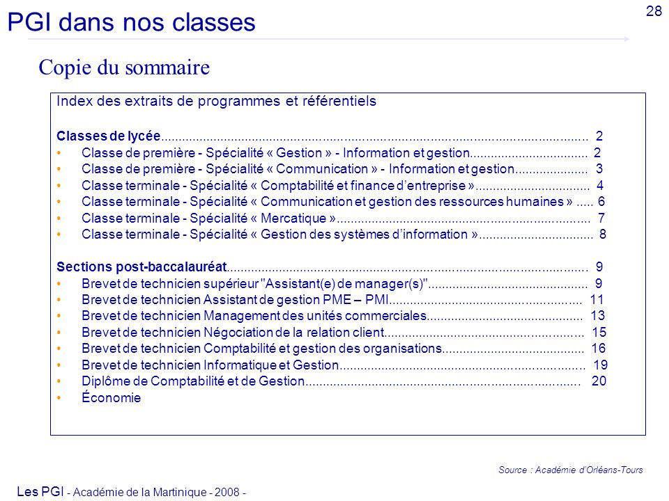 Source : Académie d'Orléans-Tours