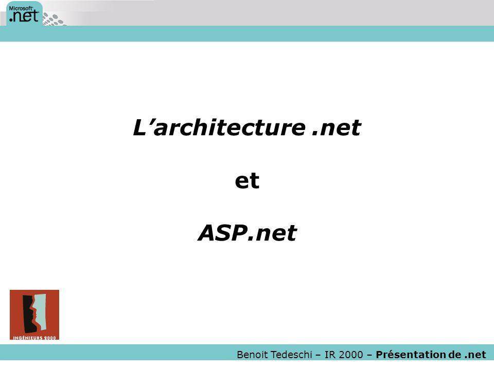 L'architecture .net et ASP.net