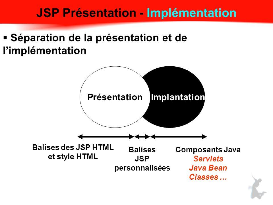 JSP Présentation - Implémentation
