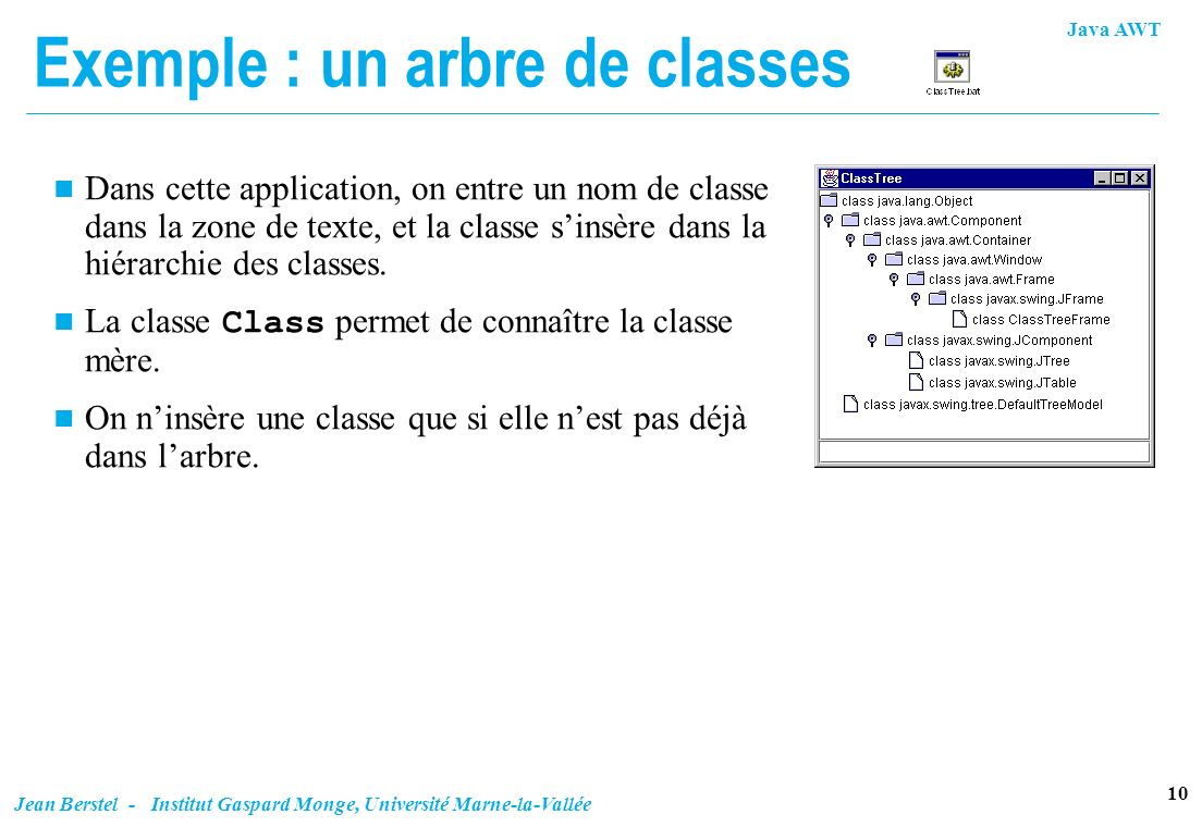 Exemple : un arbre de classes