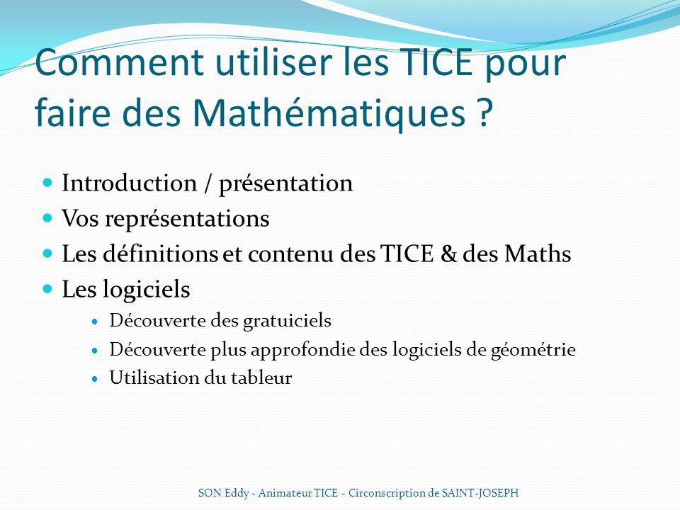 Comment utiliser les TICE pour faire des Mathématiques