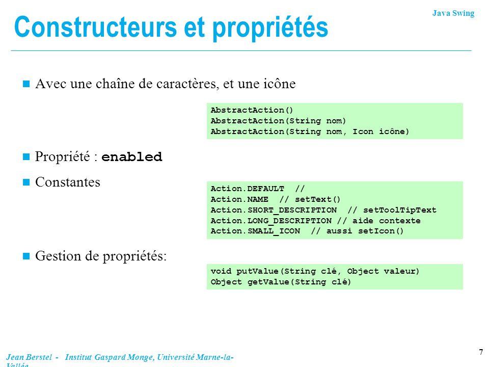 Constructeurs et propriétés