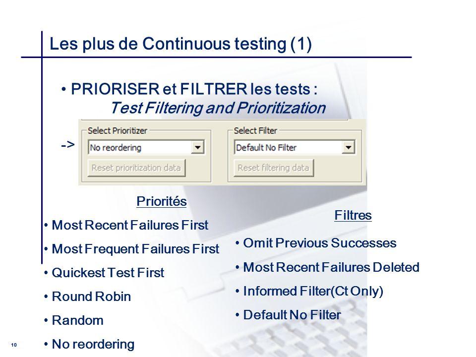 Les plus de Continuous testing (1)