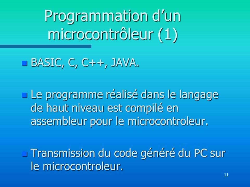 Programmation d'un microcontrôleur (1)