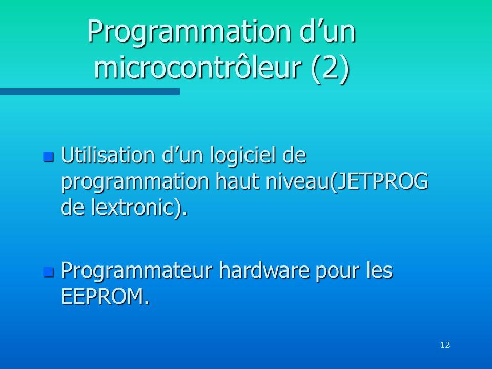 Programmation d'un microcontrôleur (2)
