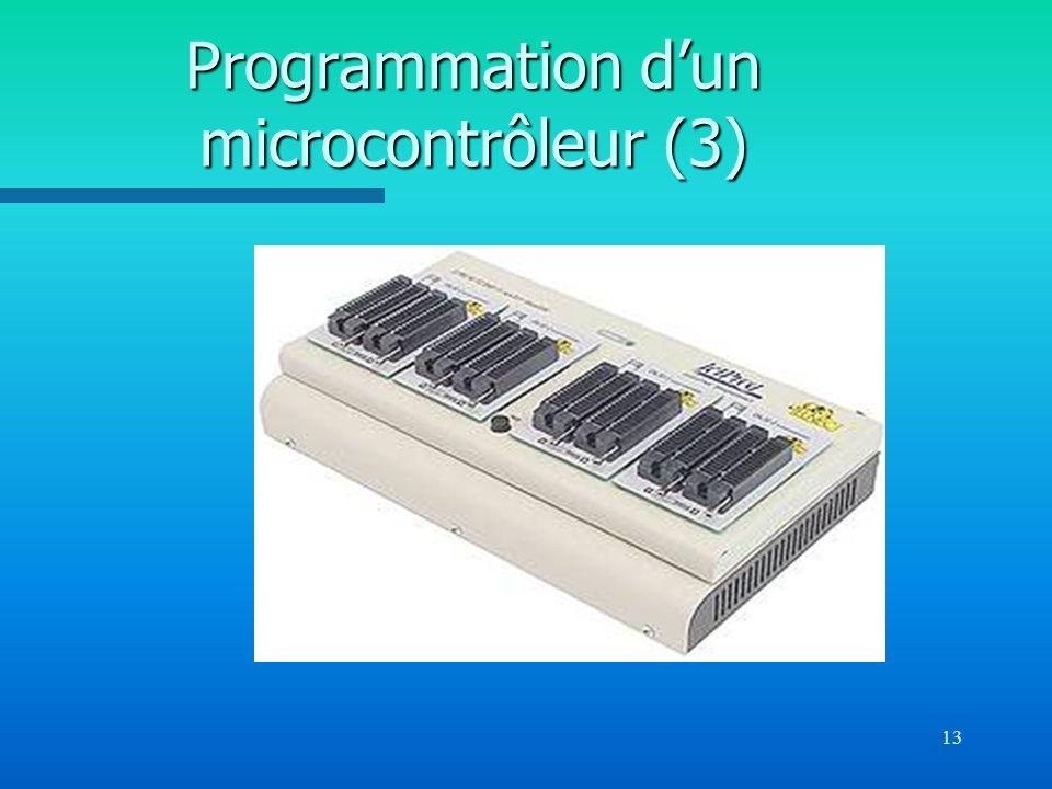 Programmation d'un microcontrôleur (3)