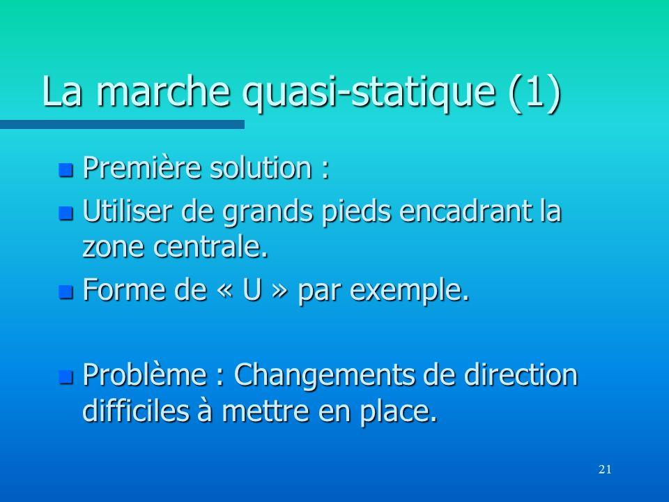 La marche quasi-statique (1)