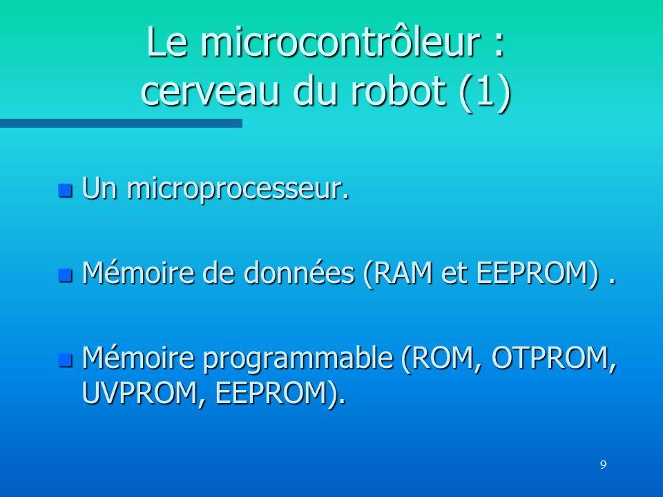 Le microcontrôleur : cerveau du robot (1)