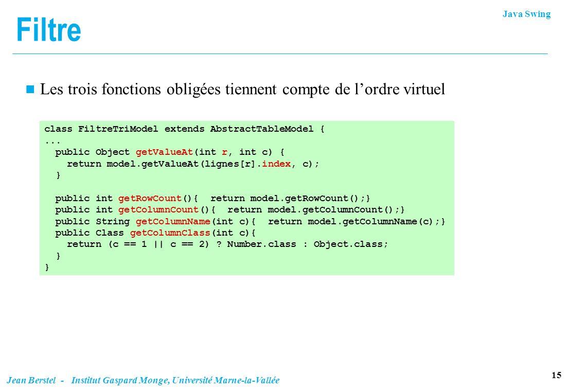 Filtre Les trois fonctions obligées tiennent compte de l'ordre virtuel