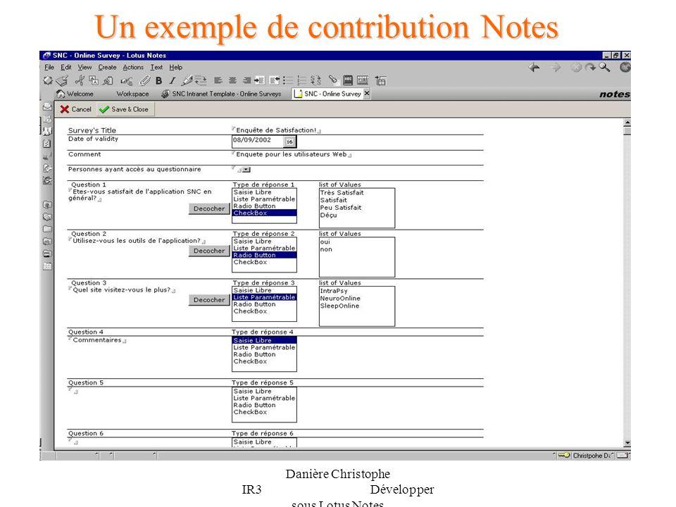 Un exemple de contribution Notes