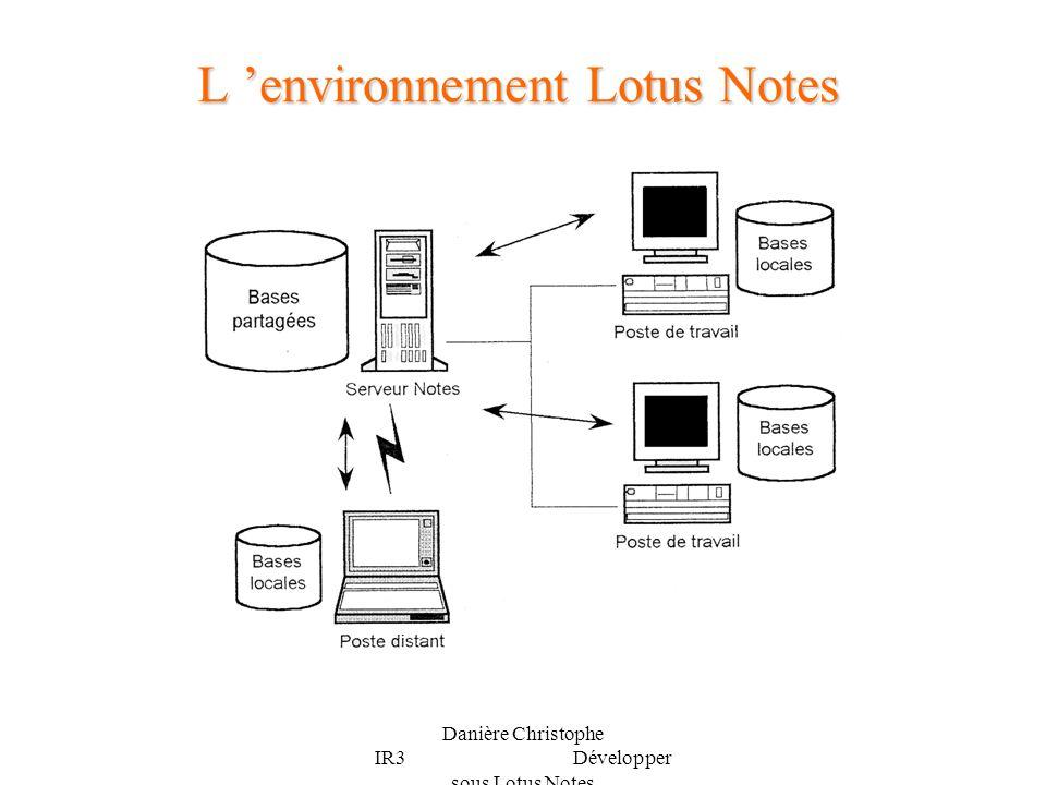 L 'environnement Lotus Notes